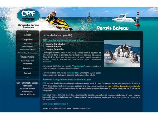 CBF : Bateau école pour permis fluvial et côtier