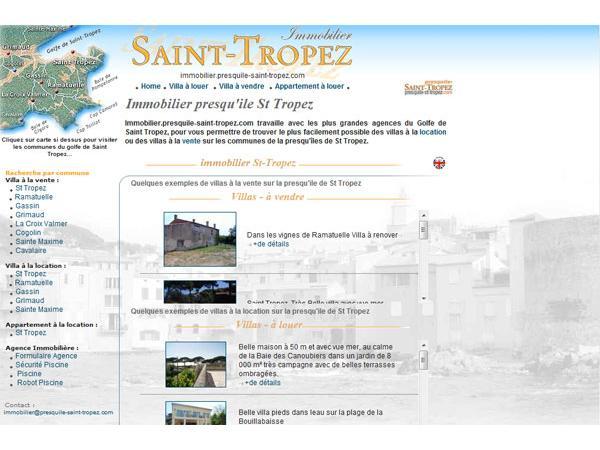 Immobilier Presqu'ile de Saint Tropez