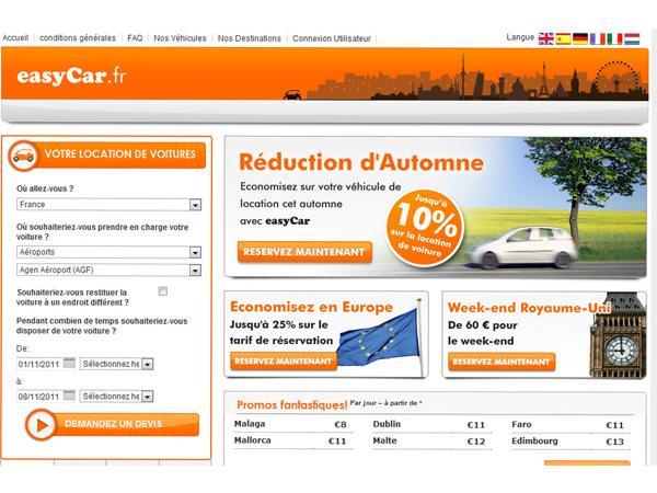 EasyCar: Location de voiture à prix réduit