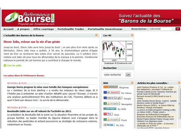 Performance Bourse