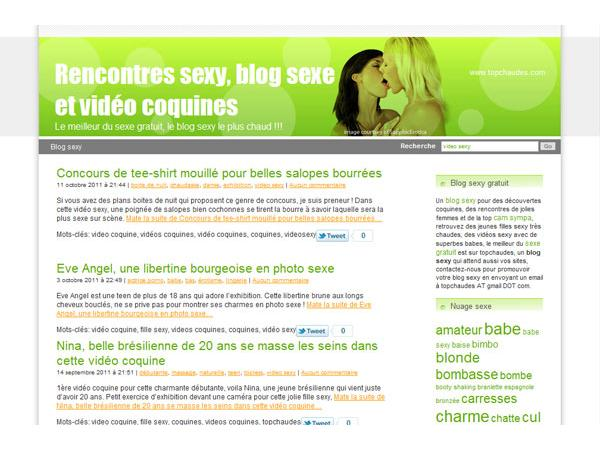 Blog sexy, filles top sexe et vidéos coquines