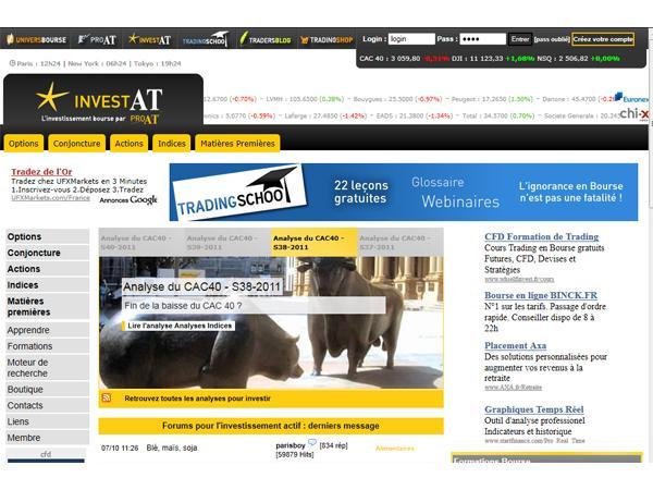Bourse, Conseils et Analyses pour Investir : Invest-AT.com