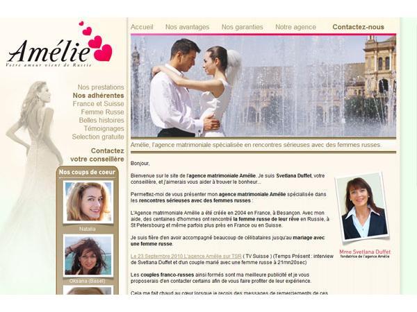 Rencontre femme russe, femmes russes, agence matrimoniale Amélie