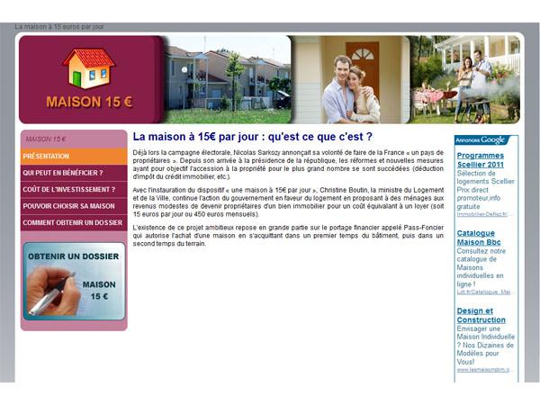 Maison à 15 euros
