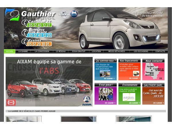 Gauthier SARL, votre distributeur Aixam en Gironde, St-Magne de Castillon, 33