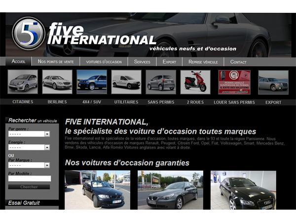 Five International specialiste voitures occasion et véhicules récents sur le 93