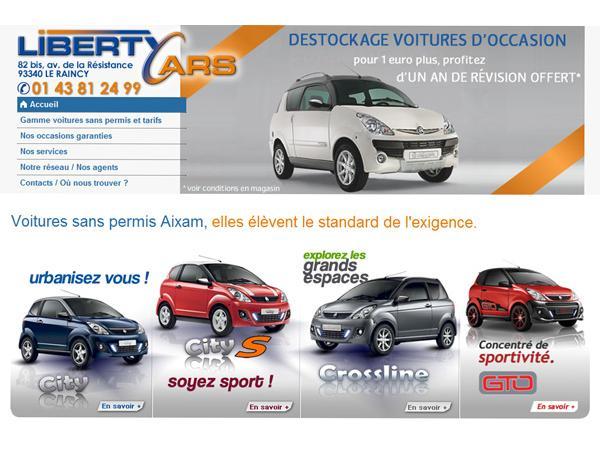 Liberty car's : concessionnaire voiture sans permis 93, distributeur Aixam