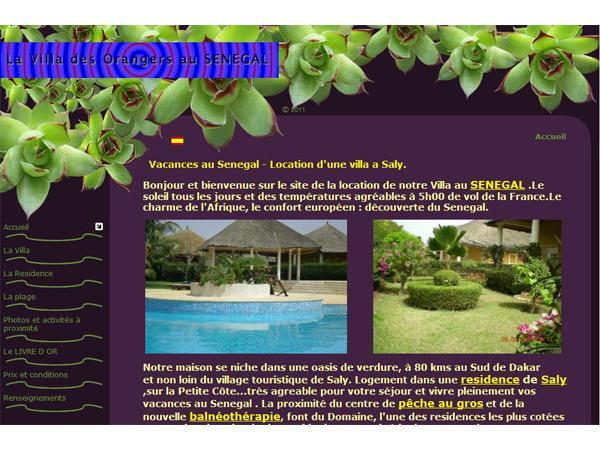 A la Villa des Orangers au SENEGAL