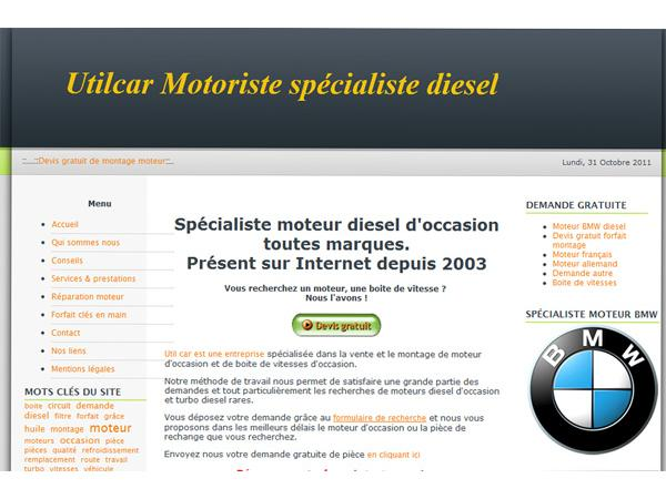 Utilcar Spécialiste moteur diesel occasion