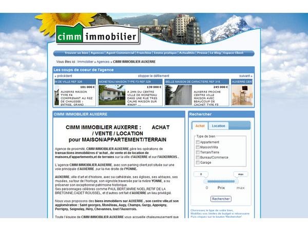 Cimm immobilier Auxerre