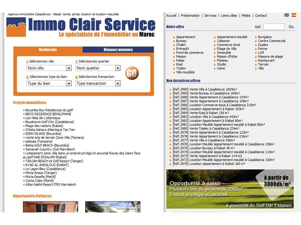 immo clair service agence immobiliere Casablanca Rabat