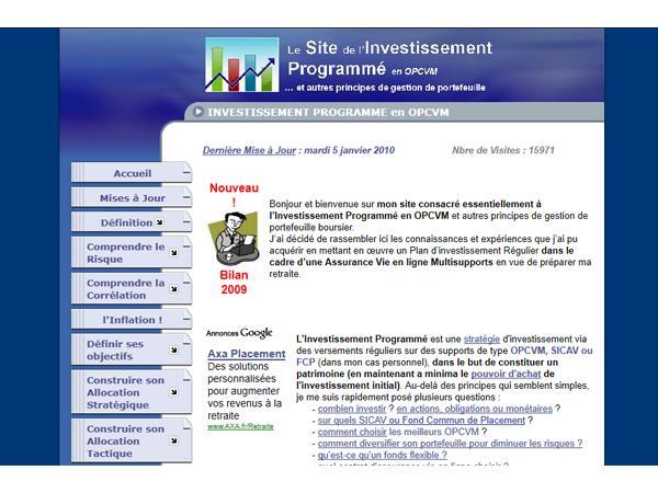 Le site de l'Investissement Programmé