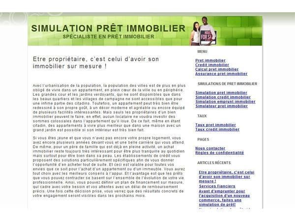Simulation pret immobilier