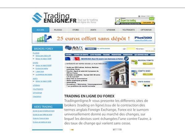 Les brokers du forex en ligne
