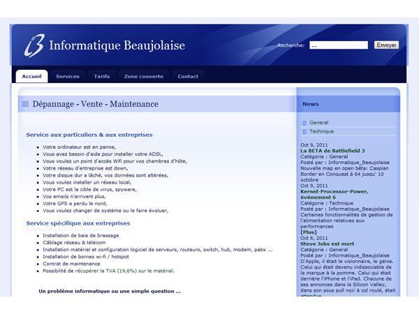 Informatique Beaujolaise : dépannage à domicile