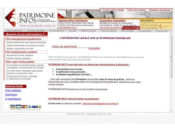 L?INFORMATION LEGALE SUR LE PATRIMOINE IMMOBILIER