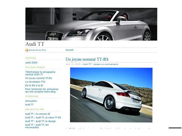 Audi TT le showroom