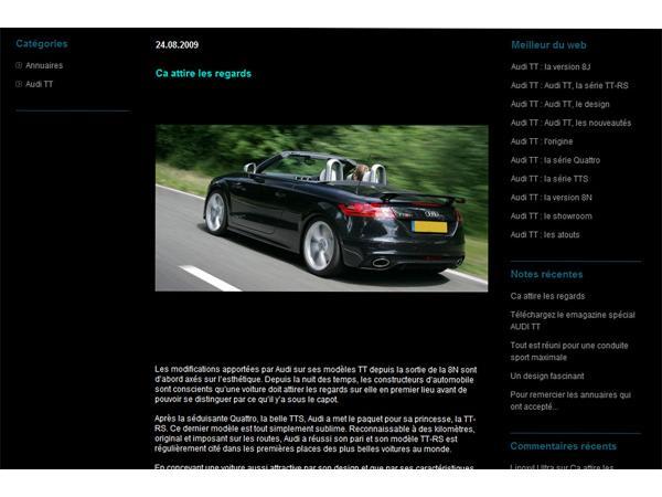 Audi TT le design
