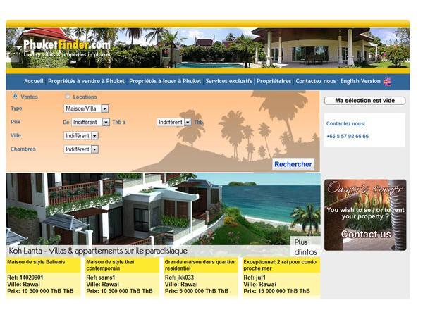 Phuketfinder.com, Real Estate, Agence immobilière