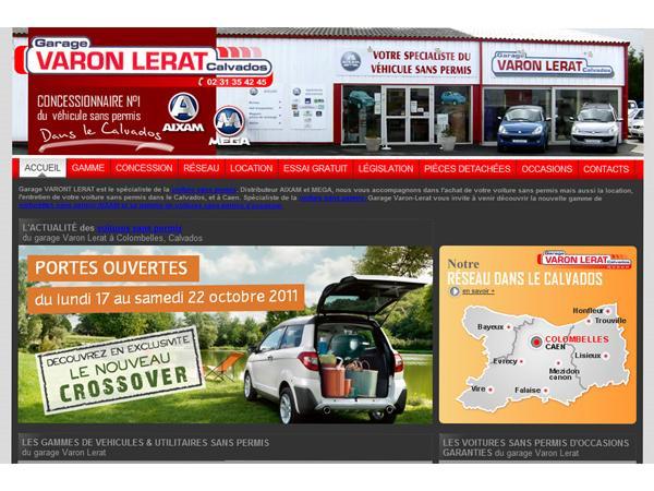 Varon Lerat, voiture sans permis dans le Calvados 14 à Colombelles