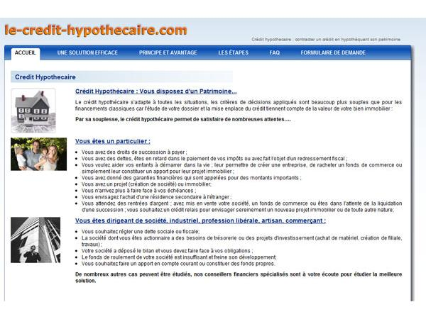 le credit hypothecaire