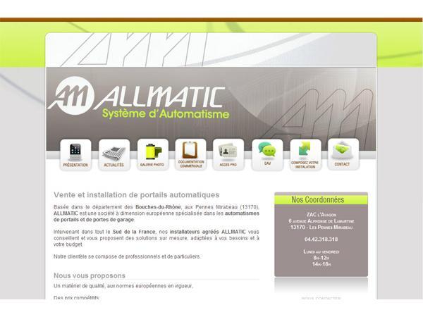 Allmatic: vente, installateur de portails Allmatic