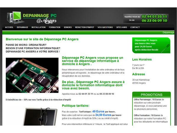 Dépannage PC Angers - Services informatiques à domicile à Angers.