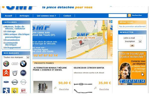 Casse automobile SMF à Joué-les-Tours 37300