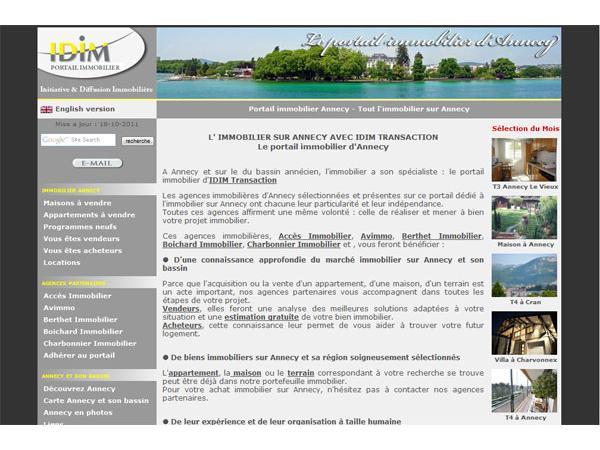 IDIM agence immobilière à Annecy