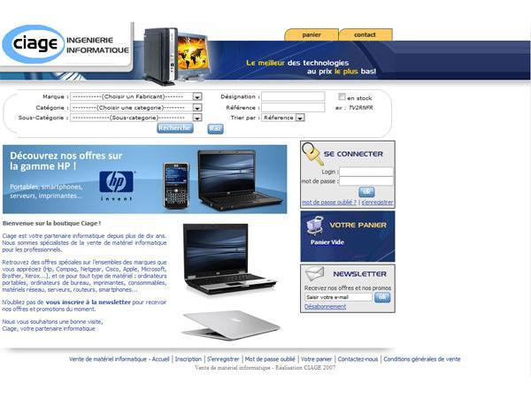 CIAGE Vente de matériel informatique