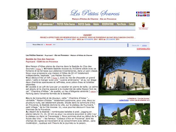 CHAMBRE HOTES AIX-EN-PROVENCE  Les Petites Sources