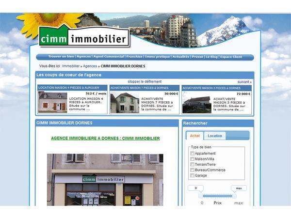 Agence immobilière CIMM IMMOBILIER DORNES