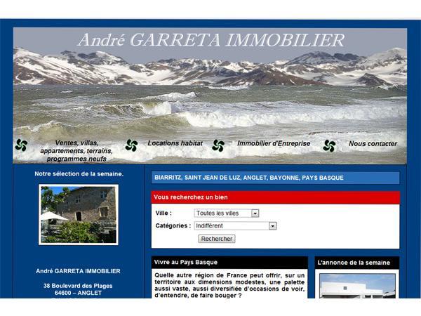 André GARRETA Immobilier Pays Basque