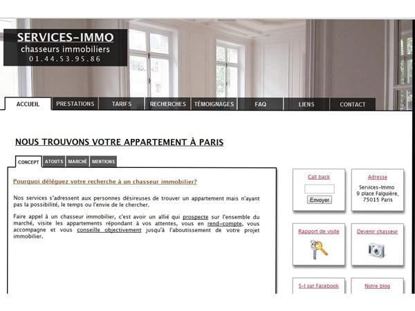 Services-Immo, chasseur d'appartement