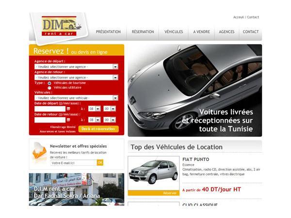 Location voiture Tunisie : Tunis, Sfax et Monastir avec DIM rent a car Tunisie