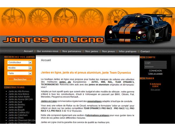 Jantes En Ligne, vente jante aluminium et pneus : Citroën, Renault, Peugeot