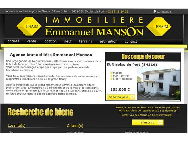 Immobilière Emmanuel Manson