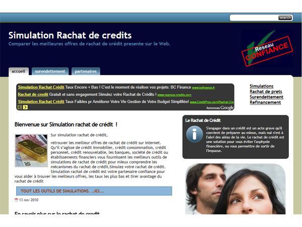 Simulateurs pour vos rachat de crédits