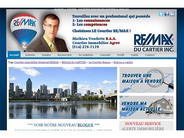 Agent immobilier et courtier immobilier remax situé à montréal au québec, Canada