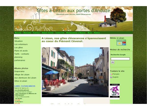 Gîtes à Lézan aux portes d'Anduze