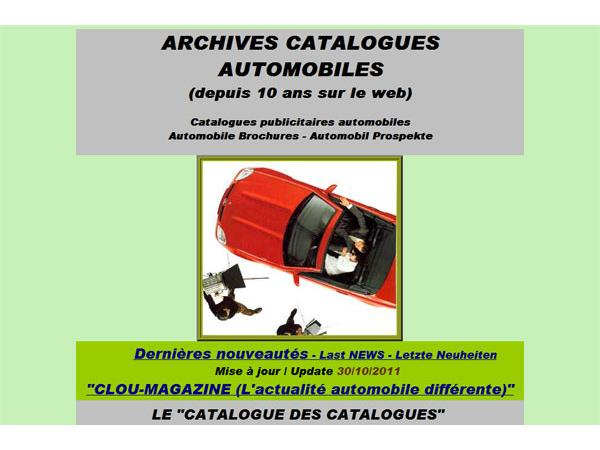 Archives Catalogues Automobiles