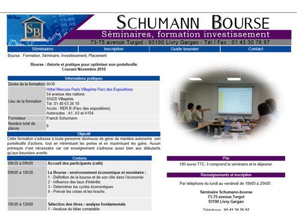 Schumann Bourse
