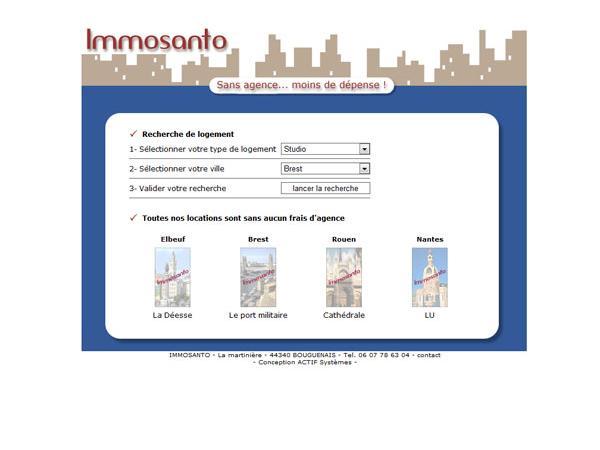 Immosanto - Location sans frais d'agence