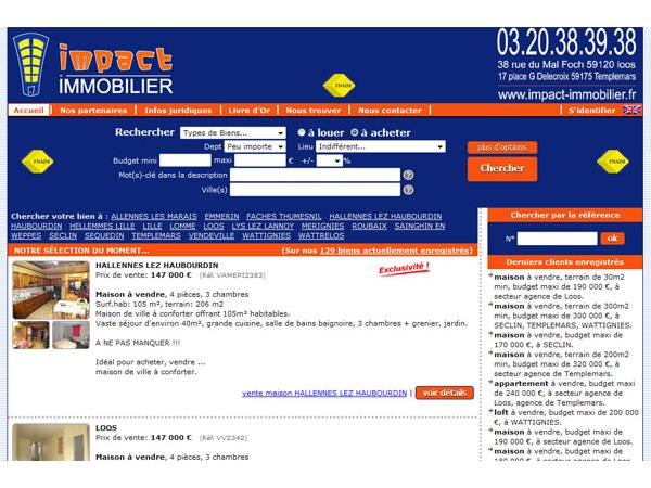 Agence Impact immobilier 59120 Loos