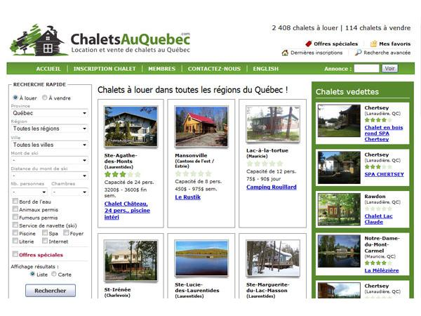Annuaire des chalets au Québec