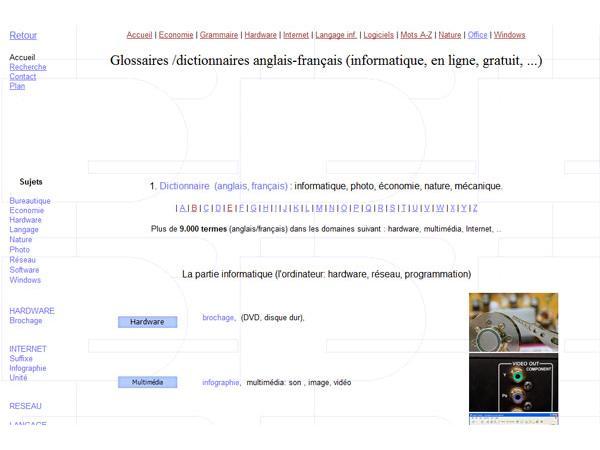 Glossaire anglais-français informatique