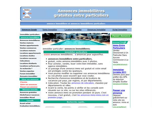 Immo-Immo : immobilier particuliers