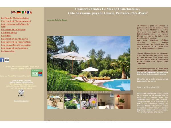 Mas de Clairefontaine  en Provence près de Grasse