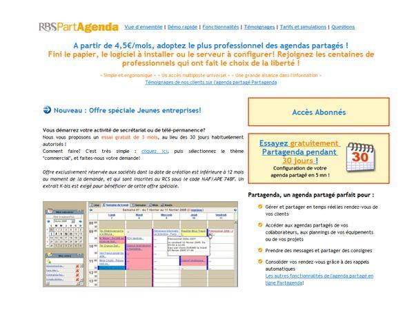 Planning en ligne et agenda partagé avec Partagenda