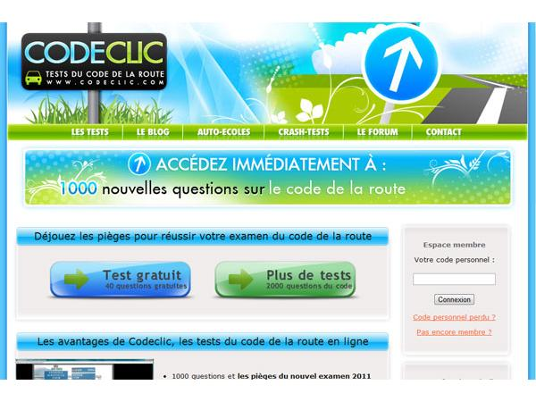 Codeclic : Tests du code de la route